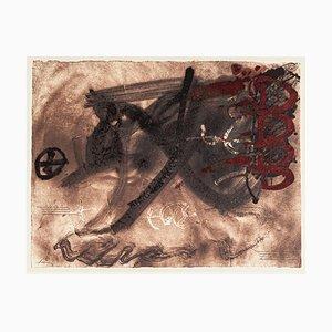 Vier Rötliche Bögen - Vintage Offsetdruck Nach Antoni Tàpies - 1982 1982