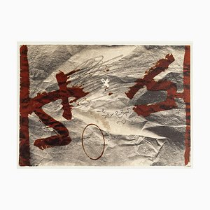 Stiff Effect - Vintage Offset Print After Antoni Tàpies - 1982 1982