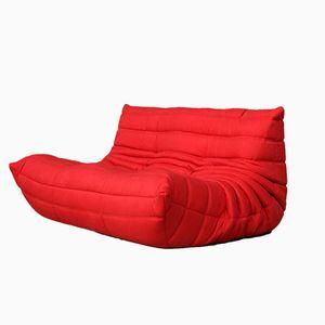 Französisches Modell Togo Zwei-Sitzer Sofa von Michel Ducaroy für Lignet Roset