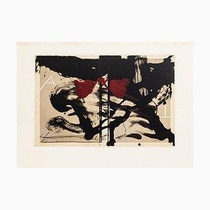 Open Book - Vintage Offset Print After Antoni Tàpies - 1982 1982