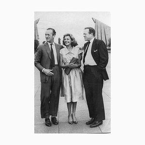 David Niven mit Rita Hayworth - Original Vintage Fotografie - 1950er 1950er