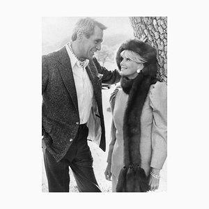 Rock Hudson und Linda Evans - Original Vintage Fotografie - 1980er 1980er Jahre