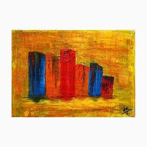 City 2 - Original Acrylic by A.M. Caboni - 2016 2016