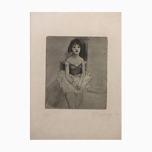 Dancer - Original Etching by Theodore Stravinsky - 1932 1932