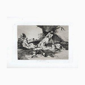 Se Aprovechan - Original Etching by Francisco Goya - 1863 1863