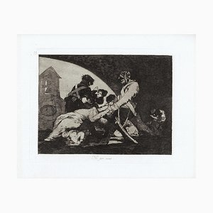 Ni por Esas - Original Etching by Francisco Goya - 1863 1863