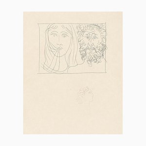 Head of a Man and a Woman - Original Etching by Pablo Picasso - 1930 1930