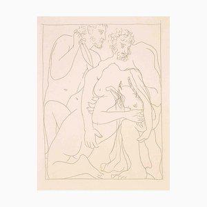 Polyxène, Fille de Priam, est égorgée sur la Tombe d'Achille 1930