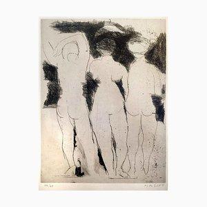 Les Baigneurs - Original Etching by Marino Marini - 1949/50 1949-50