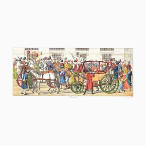 I Moccoletti - Original Etching by C. G. Hyalmar Morner - 1820 1820