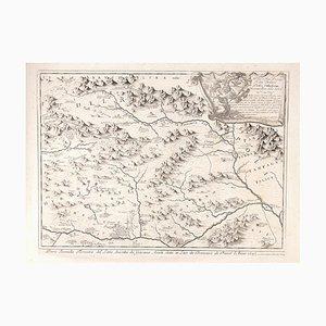 Parte Seconda Terrestre Del Lazio - Original Etching by Anonymous Artist 1693