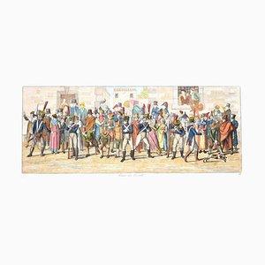 Horse Race - Original Etching by C. G. Hyalmar Morner - 1820 1820