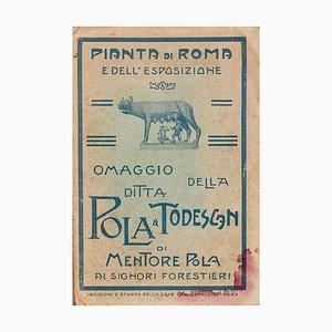 Pianta Di Roma e Dell'Esposizione - Original Etching by Ludovico Beranger - 1911 1911