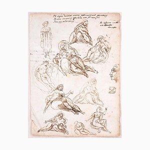 Studien und Notizen - Tinte und Bleistift auf Papier y Anonymous Master - Early 1800 Early 1800