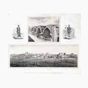 Ruins Of War In Rome - Lithographie von Anonymous, Künstler 1878, 19. Jh