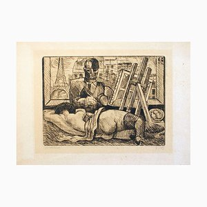 Portraiting Woman - Original Etching by Marcel Gromaire - 1930s 1930s