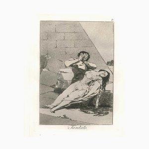 Tantalo - Original Etching and Aquatint by Francisco Goya - 1868 1868