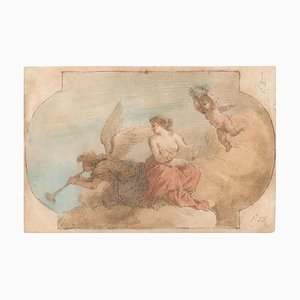 Allegorical Scene - Pen, Brown Ink and watercolor attributed. to J. Amigoni Early 18th Century