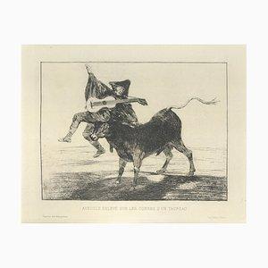 Aventurée enlevé sur les - Original Radierung von Francisco Goya - 1867 1867
