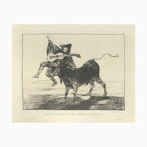 Aveugle enlevé sur les - Original Etching by Francisco Goya - 1867 1867
