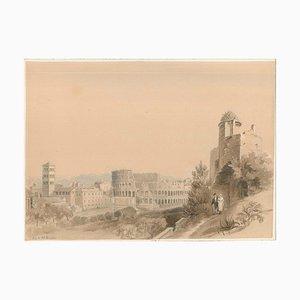 Affiche de Rome - Aquarelle sur Papier par CR Cockerell - 19ème Siècle 19ème Siècle