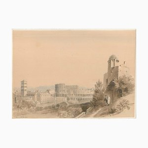 View Of Rome - Watercolor on Paper by C.R. Cockerell - Mid 19th Century Mid 19th Century