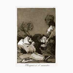 Obsequio a El Maestro - Origina Etching and Aquatint by Francisco Goya - 1869 1869