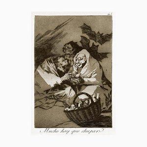 Mucho hay que Chupar - Origina Etching and Aquatint by Francisco Goya - 1869 1869