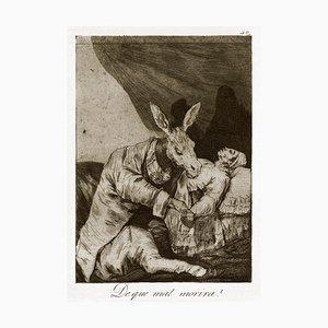 ¿De qué mal morirá? - Origina Radierung und Aquatinta von Francisco Goya - 1868 1869