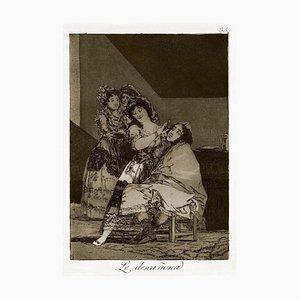 Le Descañona - Origina Radierung von Francisco Goya - 1868 1868