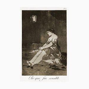Gravure à l'Eau-Forte Sensible - Origina par Francisco Goya - 1868 1868