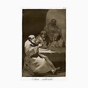 Estan Calientes - Original Etching by Francisco Goya - 1868 1868