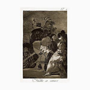 Nadie se conoce - Origina Etching by Francisco Goya - 1868 1868