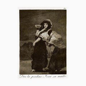 Dios la perdone: y era su madre - Original Etching by Francisco Goya - 1868 1868