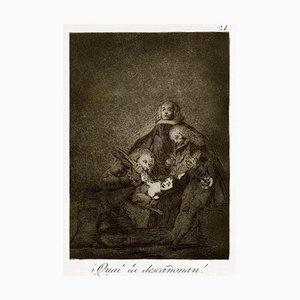 ¡Cual la Descañonan! - Original Etching by Francisco Goya - 1868 1868