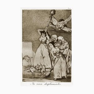 Ya van Desplumados - Original Etching by Francisco Goya - 1868 1868