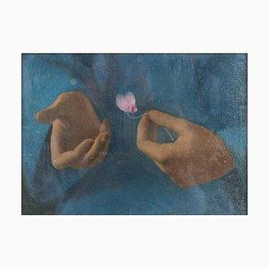 Peinture à l'Huile The Cyclamen par E. Mori Cristiani - 1940 1940