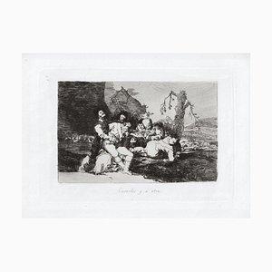 Curarlos y a Otra - Original Etching by Francisco Goya - 1863 1863