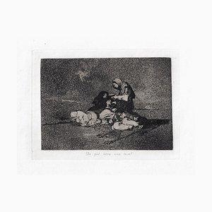 De que Sirvé una Taza? - Original Radierung von Francisco Goya - 1863 1863