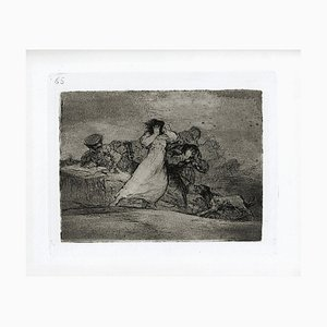 Qué alboroto es éste? - Original Etching by Francisco Goya - 1863 1863