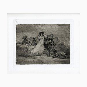 Qué alboroto es éste? - Original Radierung von Francisco Goya - 1863 1863