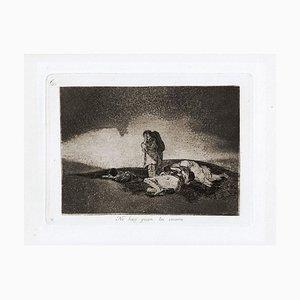 No Hay Quien lo Socorra - Original Etching by Francisco Goya - 1863 1863