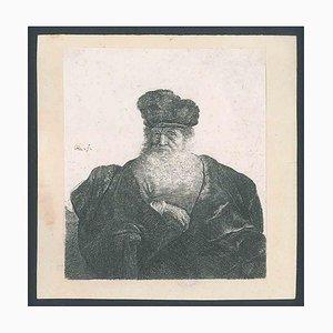 Ein alter Mann mit Bart, Pelzmütze und Samtumhang 1631