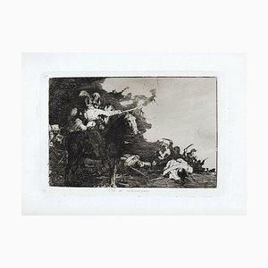 No se Convienen - Original Etching by Francisco Goya - 1863 1863