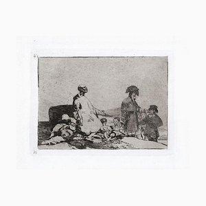 Si Son de Otro Linage - Original Etching by Francisco Goya - 1863 1863
