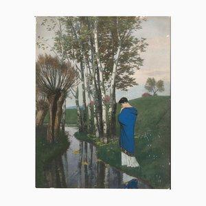 Herbstgedanken - Original Hands Aquarell Handbemalt 1886 1886