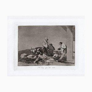 No hours que dar Voces - Original Radierung von Francisco Goya - 1863 1863