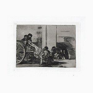 Carretadas al Cementerio - Original Radierung von Francisco Goya - 1863 1863