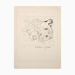 In Versum Distulit Ulmos - Original Radierung von Dunoyer de Segonzac - 1944/47 1944-47