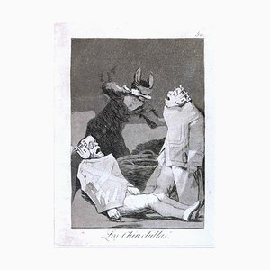 Los Chinchillas - Origina Etching and Aquatint by Francisco Goya - 1799 1799